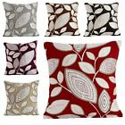 "LONDON LEAF LUXURY FLORAL CHENILLE CUSHION COVER RETRO DESIGN 18"" 22"""