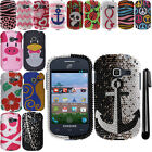 For Samsung Galaxy Discover S730G Centura S738C CRYSTAL HARD Case Cover + Pen