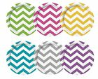 CHEVRON Range of PAPER PLATES - Pack of 8 - 17.5cm {Unique} (Tableware/Birthday)