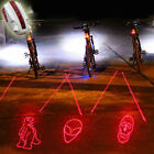 New Ornate Bike Bicycle Intelligent Laser Rear Light 5 LED Tail Lamp 4 modes