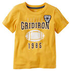 """Carter's Boys Orange """"Rugged Gridiron 1985"""" Short Sleeve T Shirt with Embroidere"""