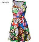 Official Ladies Dress MARIO Nintendo 64 Game Characters ~ Skater All Sizes