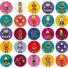 Autocollant Stickers kit 25 robots Ref: NW2952