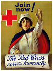 540.Red Cross serves humanity Art Decor POSTER.Graphics to decorate home office.