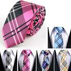 "1pc New Casual Mens Necktie Tie Skinny Narrow Slim 2"" Plaid Stripe Patterns MSYG"