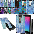 For LG Magna H502G ShockProof HYBRID Silicone Rubber HARD SOFT Case Cover + Pen