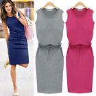 New Women Summer Casual Sleeveless Evening Party Cocktail Short Mini Dress Hot