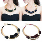 New Fashion Jewelry Rope Copper Tube Chain Vintage Wood Collar Choker Necklace