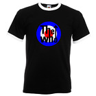 Mod Mens Ringer Tees, Slim Fit, The Who, GB target, Mods, T-shirt