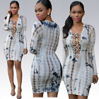 Sexy Women Ladies Bandage Bodycon Lace Up Party Cocktial Mini Dress Clubwear