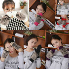 Cute Women Warm Winter Gloves Women Fur Mittens Fleece Cartoon Hedgehog Hot TY