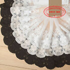 13cm,1yard, white,black embroidered flower tulle Cotton lace trim for DIY FL76