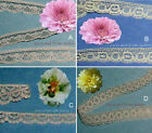 """Beige Lace Trim 6-32 Yards Scalloped Vintage 3/8""""-1/2"""" 002AV Your Choice"""