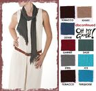OH MY GAUZE Cotton Lagenlook BELT SCARF Fringe Head Wrap  OSFM  2014 DISC COLORS