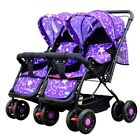New Twin Baby Stroller Toddler Buggy Pushchair Storage Basket Infant Double Pram