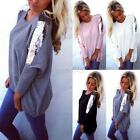 Fashion Women's Batwing Long Sleeve Plus Size Tee Shirt Casual Loose Tops Blouse