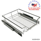 Chrome Wire Pull-Out Basket Heavy Duty Soft Close Slide Organizer Cabinet Pantry