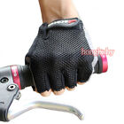 Cycling Bike Bicycle Ultra-breathable Shockproof Sports Half Finger Glove Black