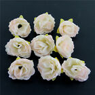 DIY Artificial Fake Flower Heads 50 12pcs Roses Hair Clip Wedding Party Home New