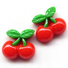 20/100pcs Red Strawberry Resin Flatback Button Cover DIY Craft B0485