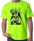 GOAT OF MENDES NEON T-SHIRT - Pagan Druid Wicca Witchcraft Satanic - FREE P&P