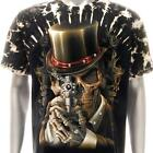 b155 Sz M XL Survivor T-shirt Tattoo STUD Skull Ghost Demon Men Magic Evil Indie