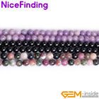 4,6,8,10,12,14mm Natural Tourmaline Gemstone Round Beads For Jewelry Making 15""