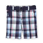 Koala Baby Boys Blue Plaid Belted Shorts