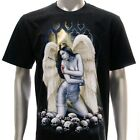 r123 Sz XL Rock Eagle T-shirt Tattoo Skull Fairy Angle Heaven God Soul Ghost Men