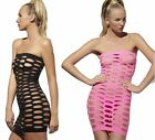 Seamless Cut-Out Mini Dress 2 Colors Sexy Lingerie Rave GoGo Club Wear fnt