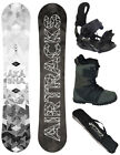 SNOWBOARD SET AIRTRACKS SKULL ROCKER+SOFTBINDUNG+BOOTS+BAG+PAD /150 153 155 158/