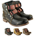 Womens Fly London Ska Leather Biker Riding Military Shoe Boots Ladies US 5-10