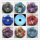 50x7mm Beautiful Mixed Stone Donut Pendant Bead LX80(Randomly send)