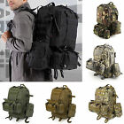 50L Molle 3 Army Assault Tactical Outdoor Military Rucksack Backpack Camping Bag