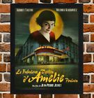 Framed Amelie French Audrey Tautou Film Poster A4/A3 Size In Black / White Frame