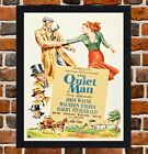 Framed The Quiet Man Movie Poster A4 / A3 Size In Black / White Frame