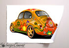 VW BEETLE GIANT WALL ART POSTER A0 A1 A2 A3