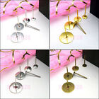 Flat Pad Earring Post 6mm,8mm,10mm,12mm,Silver/Gold/Bronze R5028