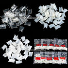 500pcs Acrylic French False Duck Toe Nail Art Tip Set White Clear Natural Choose