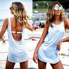 Summer Women Sexy Sleeveless Backless Cocktail Evening Party Vest Top Mini Dress