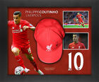 Philip Coutinho Signed Framed Liverpool Cap Framed in Dome Display