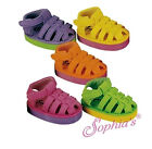 """18"""" Doll Shoes Sandals Pink Purple Yellow Orange Green fits American Girl Dolls"""