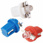 T5 B8.5D Car LED Speedo Indicator Dashboard Bulbs Light x 10 White Red Blue
