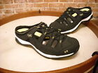 Ryka Tensile Black Leather Fisherman Bungee Slide Mule NEW