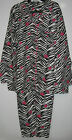 Joe Boxer Plus Size Womens 1X Zebra Winter Flannel Pajamas Sleepwear Sets Pjs