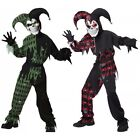 Evil Jester Costume Kids Scary Halloween Fancy Dress