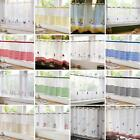 "VOILE CAFE PANEL KITCHEN BATHROOM READY MADE NET CURTAINS 18"" & 24"" AVAILABLE"