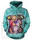 PIT BULL SMILE ADULT HOODIE SWEATSHIRT THE MOUNTAIN DEAN RUSSO