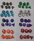 Gem Dice Multi Sided Poly Dice D20 RPG D&D NEW