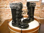 Sporto Millie Black Suede Lace-up Winter Snow Boot NEW